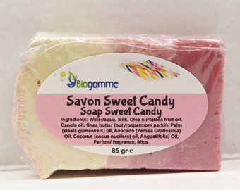 Vegan Sweet Candy and creamy Soap / SOAP vegan soft and creamy Sweet Candy