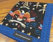 Patriotic USA EDC Hank American Eagle Handmade Hank Everyday Carry Pocket Dump Hank Mens Handkerchief Gift for Him