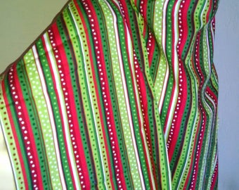 Handmade Nursing Cover-up, Breastfeeding, Bright shades of red and green.