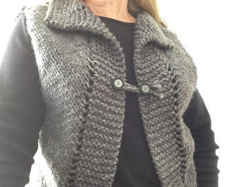 Tonally Easy Knitted Vest Pattern (PDF)