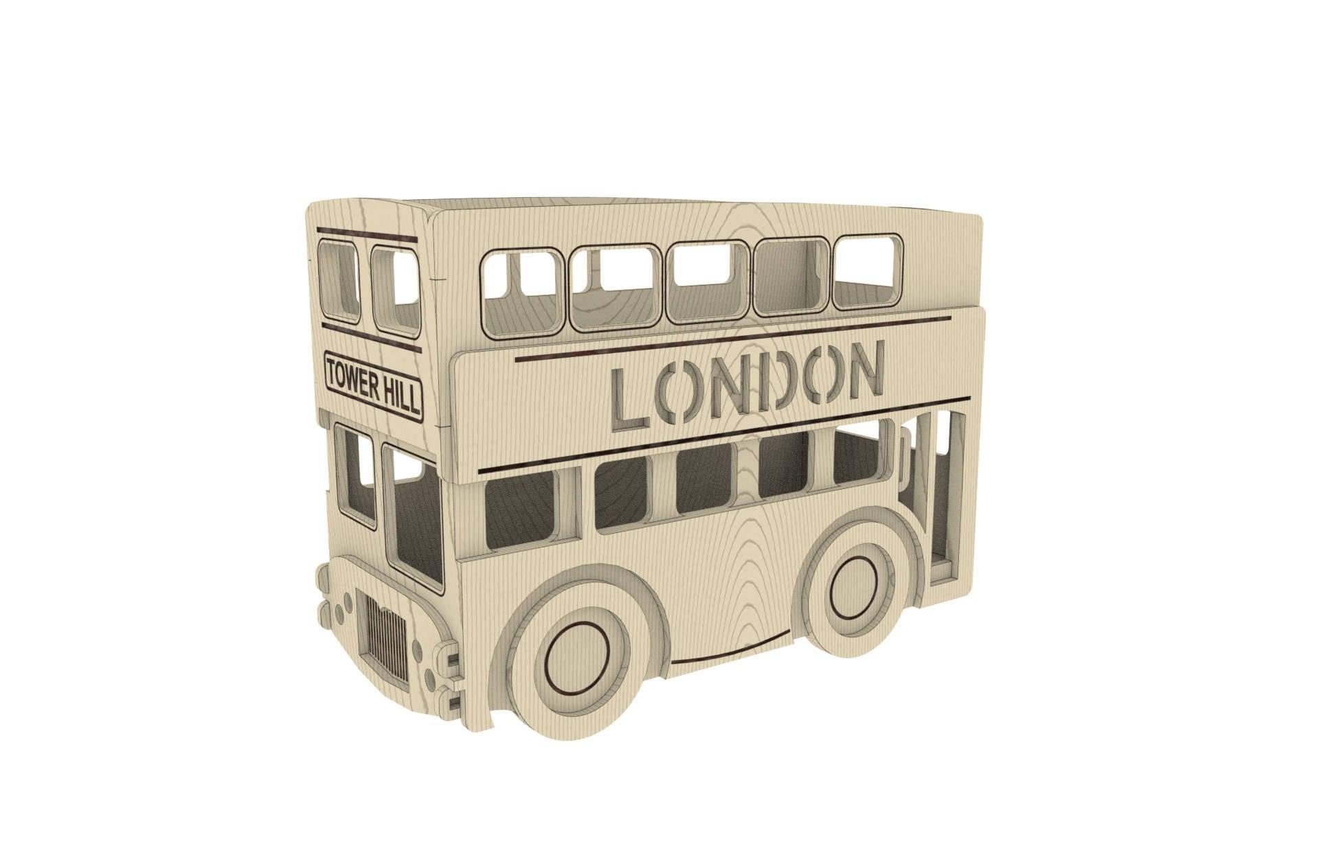 London bus pencil house laser cut home d cor cnc laser for Home accessories london