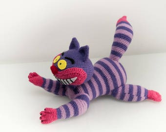 Crochet pattern, amigurumi pattern, crochet pattern Cheshire cat Alice in wonderland cheshire amigurumi monster amigurumi, crochet, disney