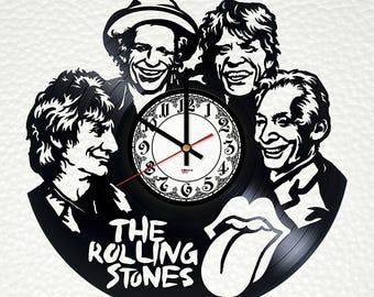 Wall clock The Rolling Stones, original wall decor