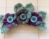 Boho crochet flower brooch/ shawl pin/cardigan closure