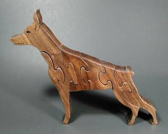 Doberman wood puzzle