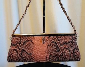 Pink /w Black Snakeskin Hobo HandBag