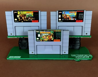 Donkey Kong Country Super Nintendo SNES Cartridge Display Stand