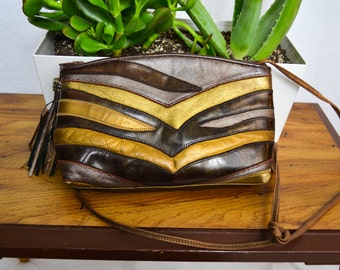 80's Gold and Copper Sharif Purse