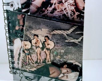 Rihanna Notebook, cool notebook, unique notebook, pop, hip hop, cool journal, unique journal, special notebook, music notebook, fan art