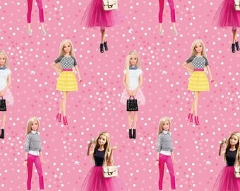 Jersey digital printing Barbie pink