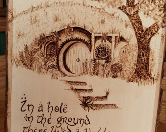 Hobbit Woodburning