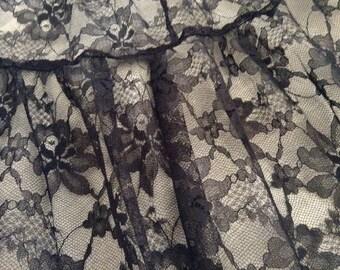 Vintage Black Lace Petticoat