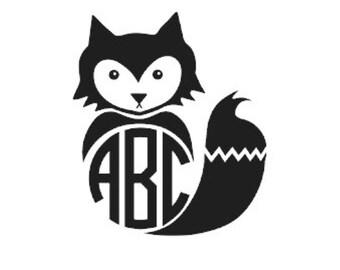 Fox Decal Etsy - Owl custom vinyl decals for car