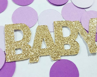 25 pcs Glitter BABY Confetti - Silver, Gold, Pink or Blue / Baby Shower Confetti / Baby Shower Decor / Boy Baby Shower / Girl Baby Shower