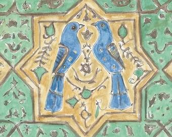 Turkish Tile Watercolor