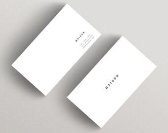 Maison | Minimalist Business Card Template | Business Card Template
