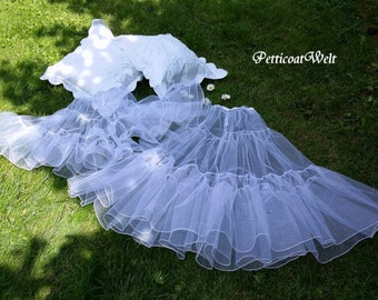 For christening gown, tulle petticoat