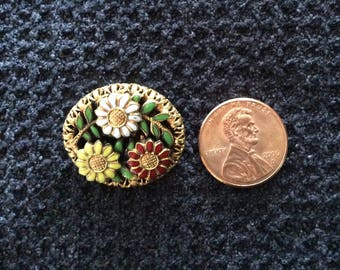 Flower Brooch Vintage