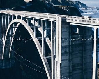 Bixby Bridge Photograph, Travel Photography, West Coast, California, Road Trip, Sea, Fine Art, Mountain, Color, USA