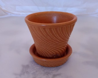 Vintage McCoy Swirl Pattern Flower Pot
