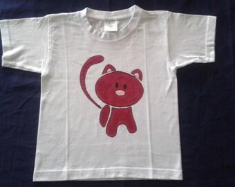 hand painted 3 short-sleeved shirt-4 years