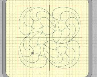 """Embroidery files """"Circle with feathers"""" for a quilt and AcuFil tool"""