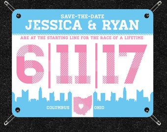Race-bib Save-the-Date Level Two