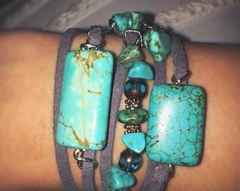 Turquoise Wrap Bracelet  :)