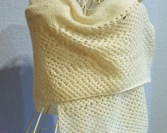 Knitted Cream colored Wrap
