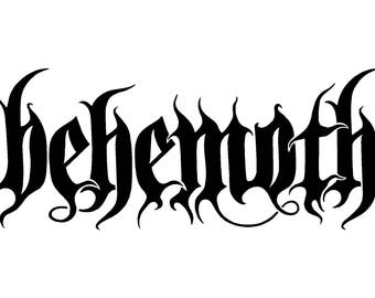 Behemoth Vinyl Decal Car Window Laptop Death Metal Band Sticker