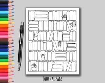 Reading List Book Tracker - Printable Bookshelf - Book Shelf Book Tracker - Bujo - Bullet Journal - Book Tracker - Reading List - Book Shelf