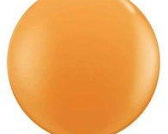 Jumbo  Round 90cm Balloon Orange