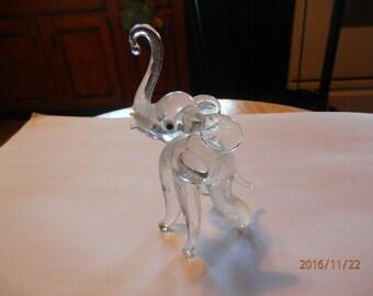 Vintage Blown Glass Elephant