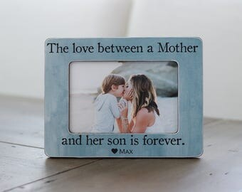 Mother's Day Gift from Son, Mother Son, Personalized Gift Frame, Gift for Wife, Mom of Boy, The Love Between a Mother and Her Son is Forever
