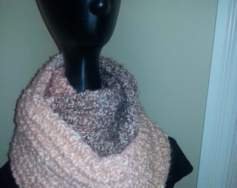 chunky knit infinity scarf, double cowl scarf, woollen neck warmer, infinity scarves,hand knit, ombre