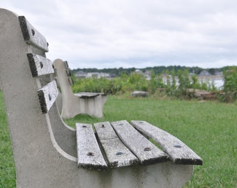 Benches on the coast of Maine