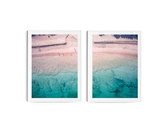 Beach Print // Beach Aerial Photo // Nordic Wall Print  // Bondi Print // Wall Art // Beach Drone Photo // Home Decor //