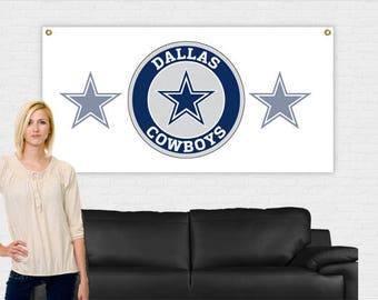 Dallas Cowboys Banner 3 ft x 6 ft | Cowboys Banner