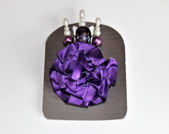 Purple and White Decorative Stick Pin Sets For Scrapbooking, Mini Albums, & Card Making