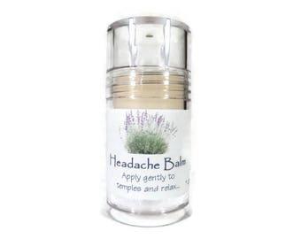 Headache Balm - 1 ounce - headache - headache relief - all natural - essential oils - lavender - peppermint - sage