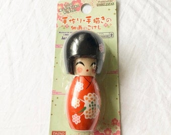 Small Wooden Japanese Kokeshi Doll