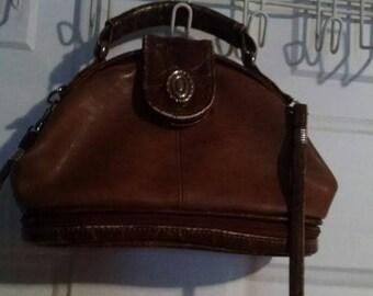Vintage leather bucket style purse Jackson brand