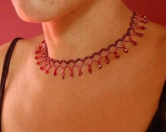 elegant choker w/ amethyst pearls