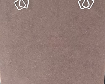 Sterling Silver Bow Design Earrings