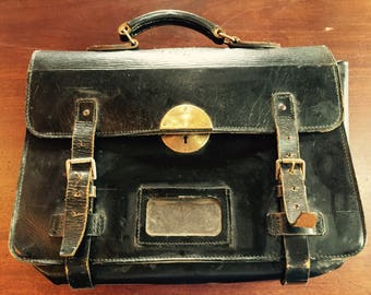 1920's Leather Briefcase - Mitchell Davey