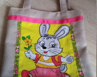 Easter bag, tote, bunny