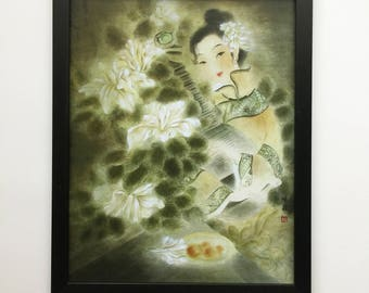 Chinese Lady Print Oriental Painting, Chinese Decor, Oriental Decor, Asian Decor