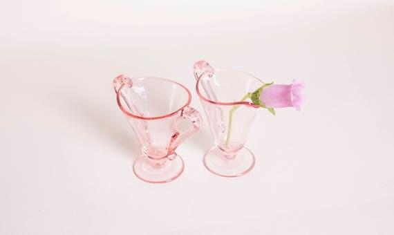 Pink Cream & Sugar Set