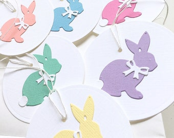 Easter Bunny Tags, Happy Easter Tags, Spring Gift Tags, Easter Gift Tags, Easter Basket Tags, Easter Favor Tags, Bunny Rabbit Tags, Pastel