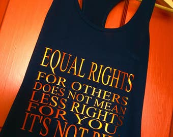 Equal rights for others, not pie.